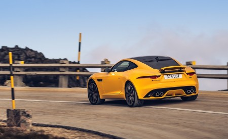 2021 Jaguar F-TYPE R Coupe AWD (Color: Sorrento Yellow) Rear Three-Quarter Wallpapers 450x275 (6)