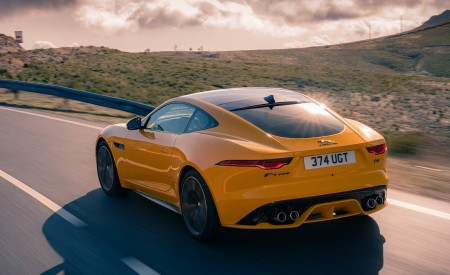 2021 Jaguar F-TYPE R Coupe AWD (Color: Sorrento Yellow) Rear Three-Quarter Wallpapers 450x275 (17)