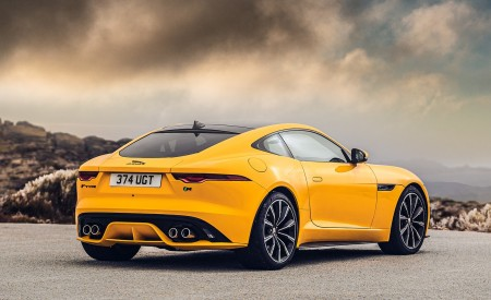 2021 Jaguar F-TYPE R Coupe AWD (Color: Sorrento Yellow) Rear Three-Quarter Wallpapers 450x275 (23)