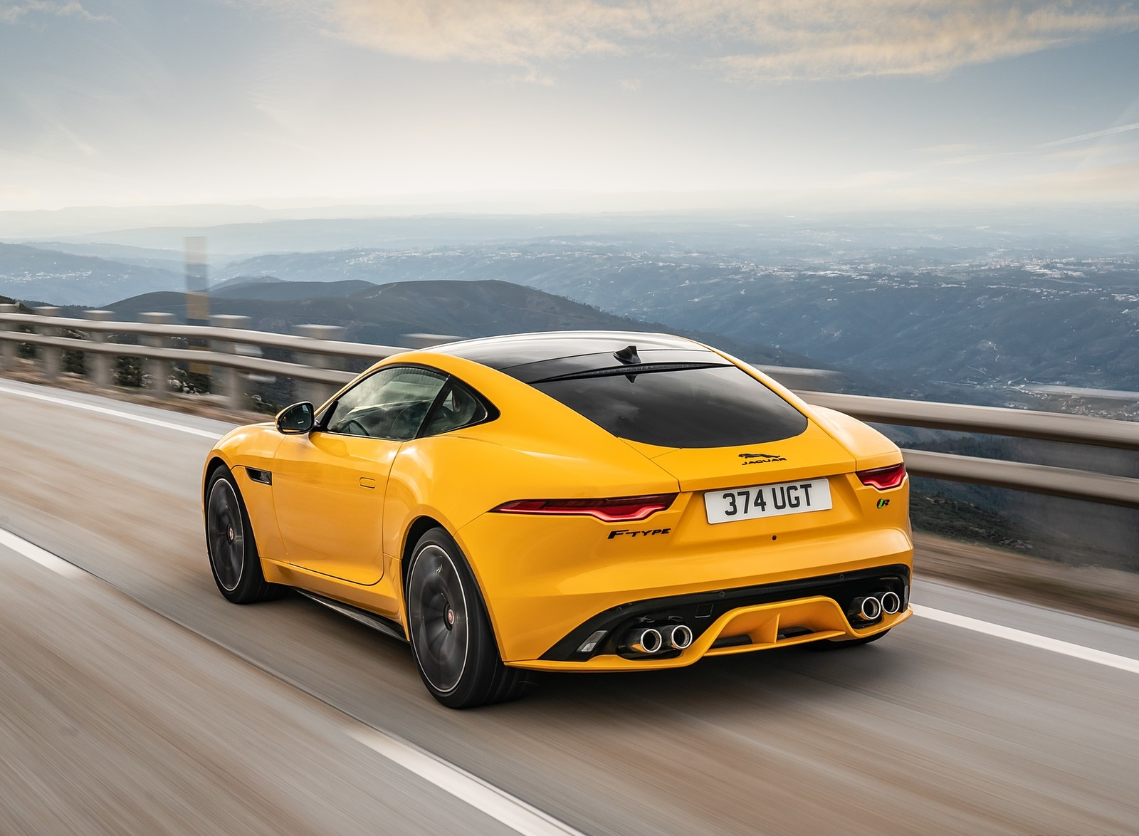 2021 Jaguar F-TYPE R Coupe AWD (Color: Sorrento Yellow) Rear Three-Quarter Wallpapers (7)