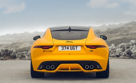 2021 Jaguar F-TYPE R Coupe AWD (Color: Sorrento Yellow) Rear Wallpapers 450x275 (24)