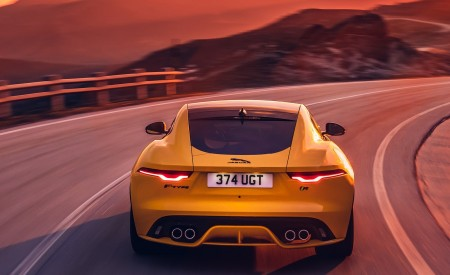 2021 Jaguar F-TYPE R Coupe AWD (Color: Sorrento Yellow) Rear Wallpapers 450x275 (19)
