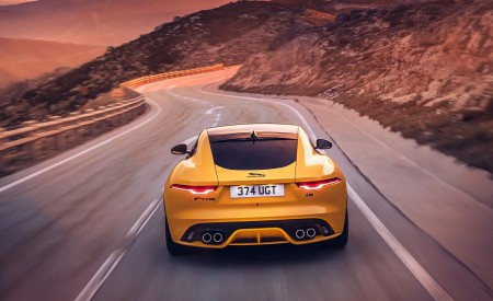 2021 Jaguar F-TYPE R Coupe AWD (Color: Sorrento Yellow) Rear Wallpapers 450x275 (8)