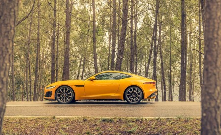 2021 Jaguar F-TYPE R Coupe AWD (Color: Sorrento Yellow) Side Wallpapers 450x275 (25)
