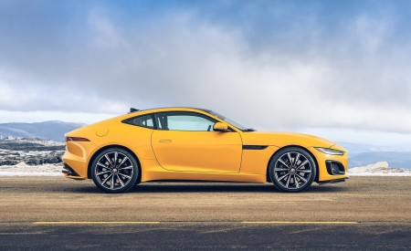 2021 Jaguar F-TYPE R Coupe AWD (Color: Sorrento Yellow) Side Wallpapers 450x275 (26)