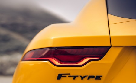 2021 Jaguar F-TYPE R Coupe AWD (Color: Sorrento Yellow) Tail Light Wallpapers 450x275 (28)