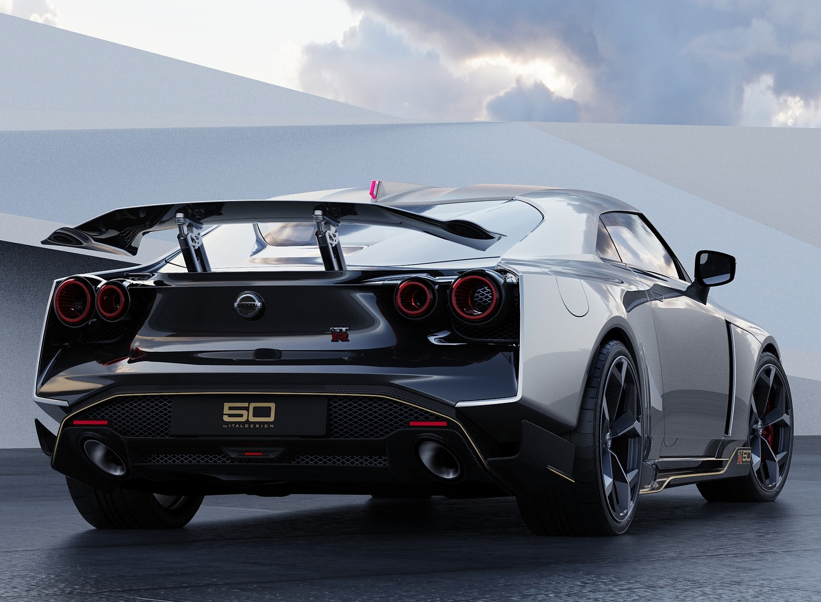 2021 Nissan GT-R50 by Italdesign Rear Wallpapers (7)