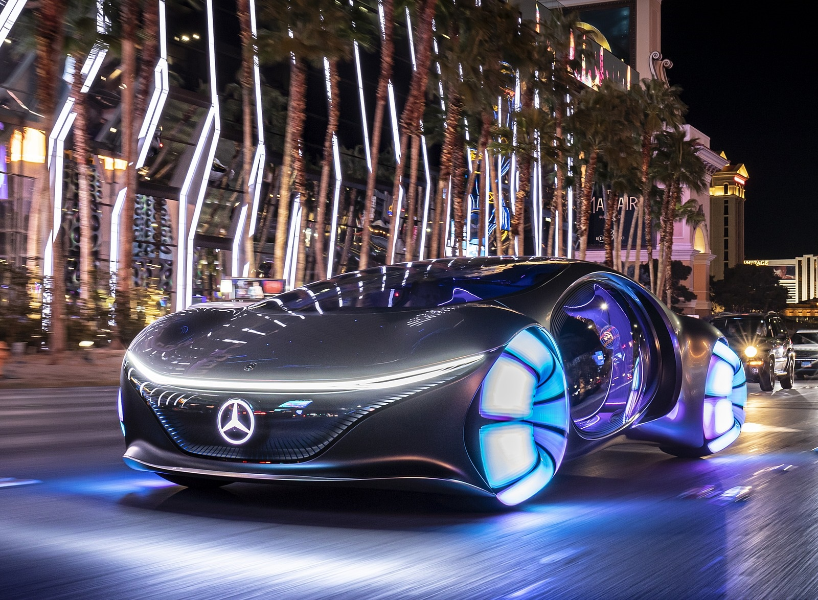 2020 Mercedes-Benz VISION AVTR Concept in Las Vegas Front Three-Quarter Wallpapers (1)