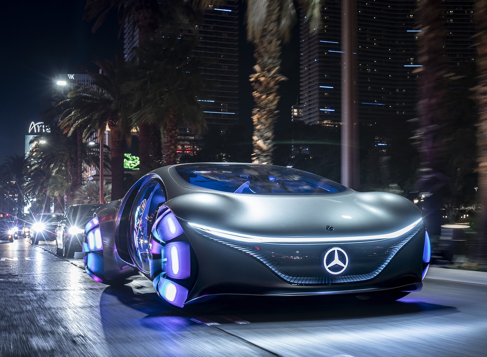 2020 Mercedes-Benz VISION AVTR Concept in Las Vegas Front Wallpapers (3)