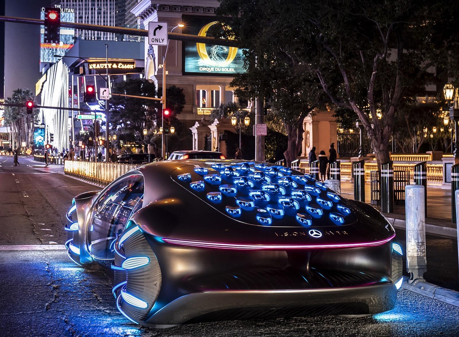 2020 Mercedes-Benz VISION AVTR Concept in Las Vegas Rear Three-Quarter Wallpapers (4)