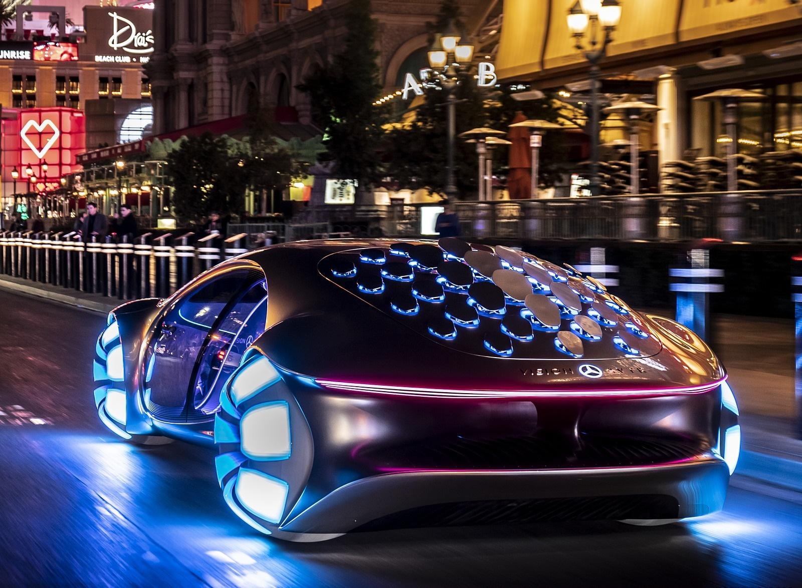 2020 Mercedes-Benz VISION AVTR Concept in Las Vegas Rear Three-Quarter Wallpapers (5)