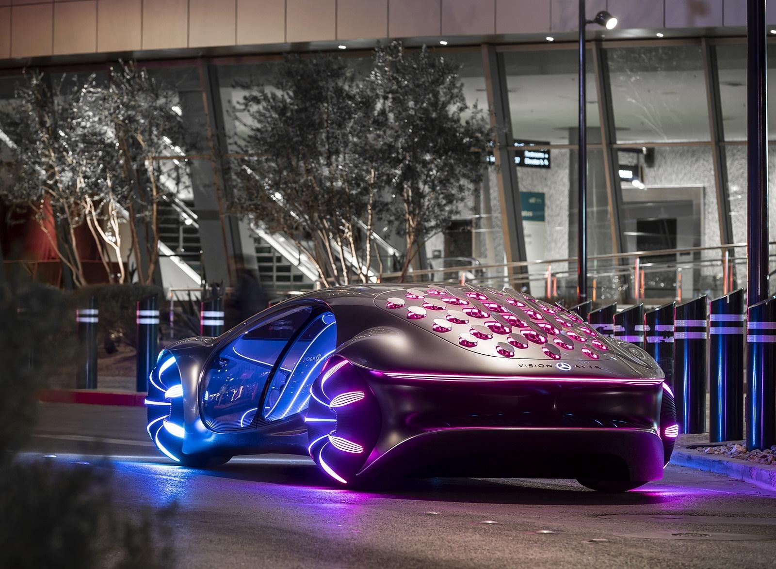 2020 Mercedes-Benz VISION AVTR Concept in Las Vegas Rear Three-Quarter Wallpapers (6)
