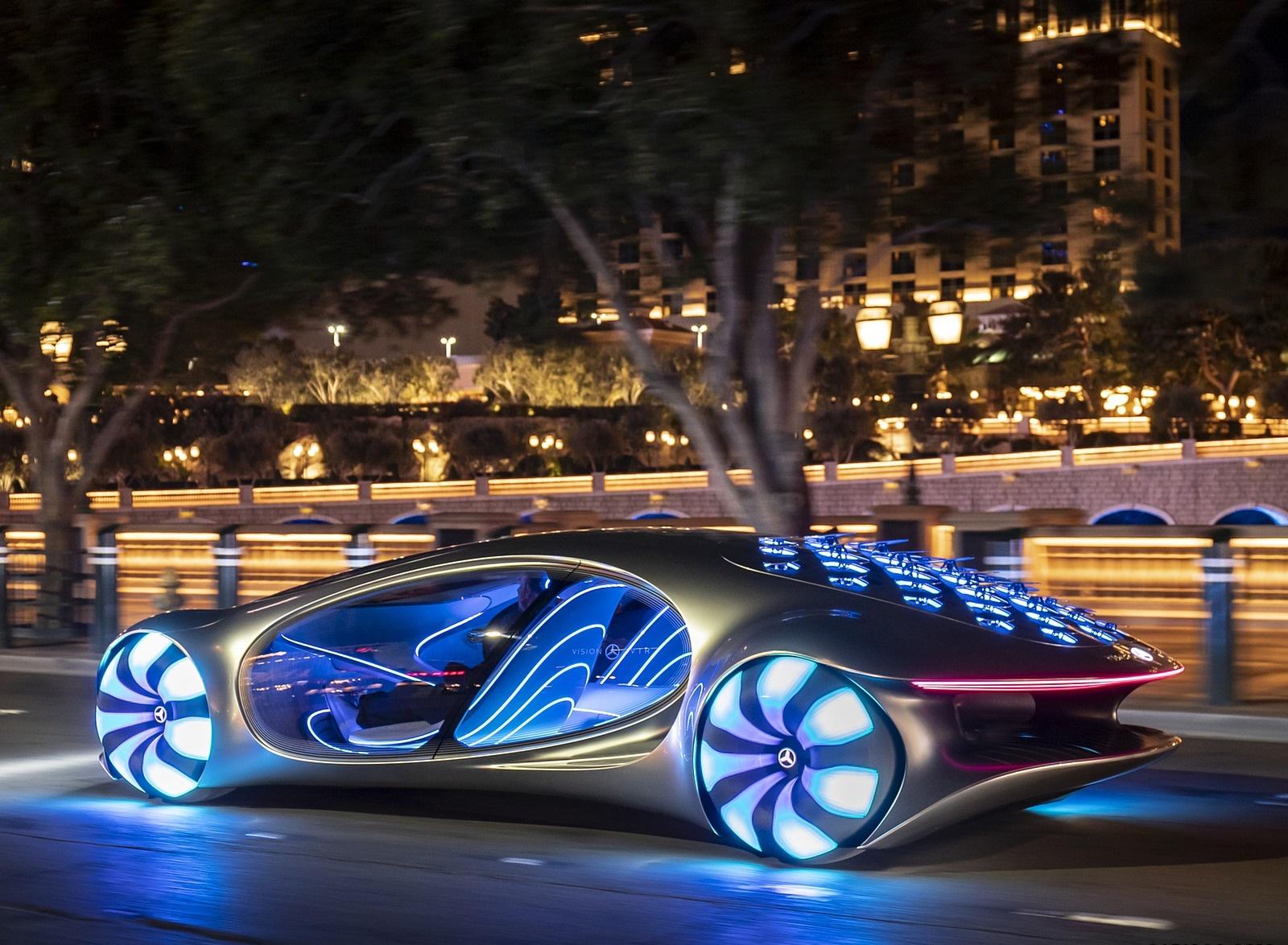 2020 Mercedes-Benz VISION AVTR Concept in Las Vegas Rear Three-Quarter Wallpapers (7)