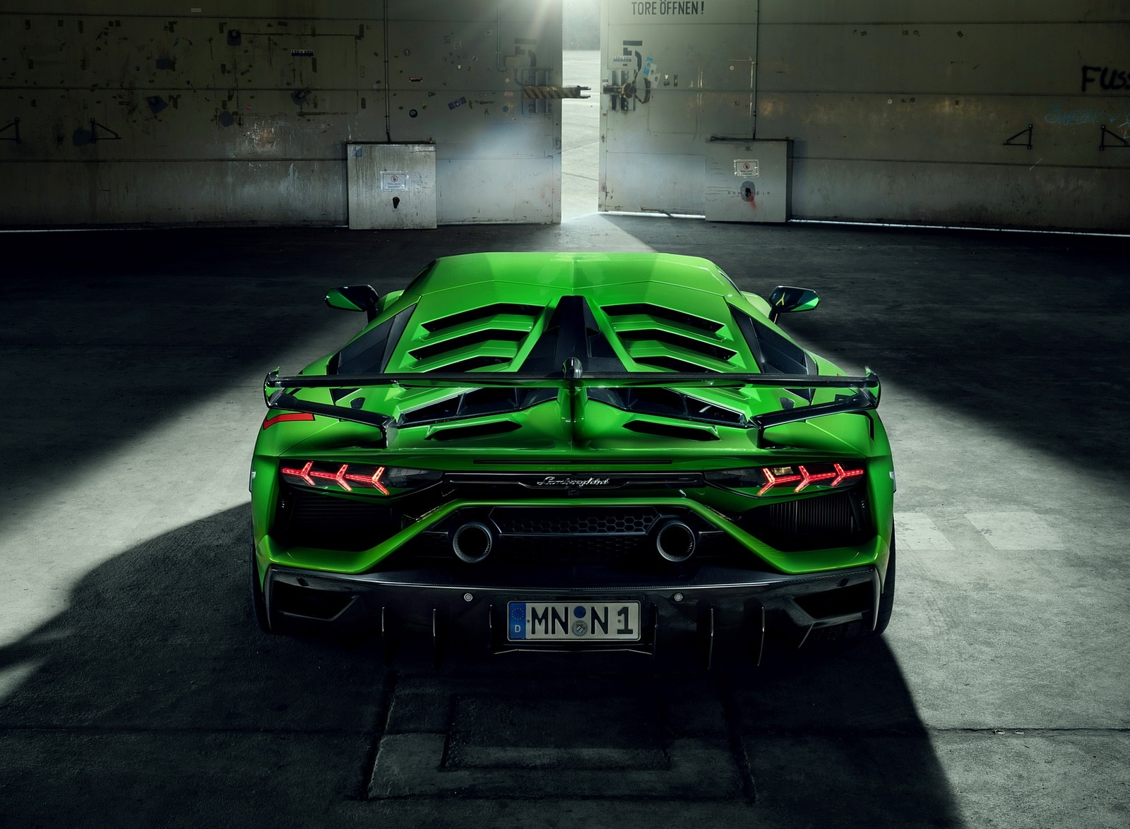 2020 NOVITEC Lamborghini Aventador SVJ Rear Wallpapers (9)