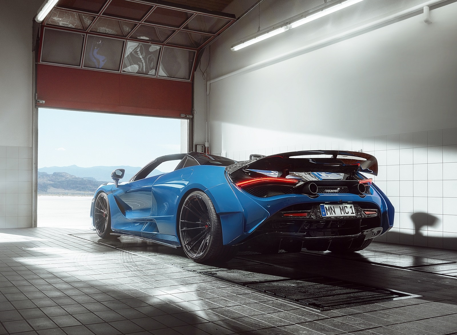 2020 NOVITEC N-LARGO based on McLaren 720S Spider Rear Three-Quarter Wallpapers (5)