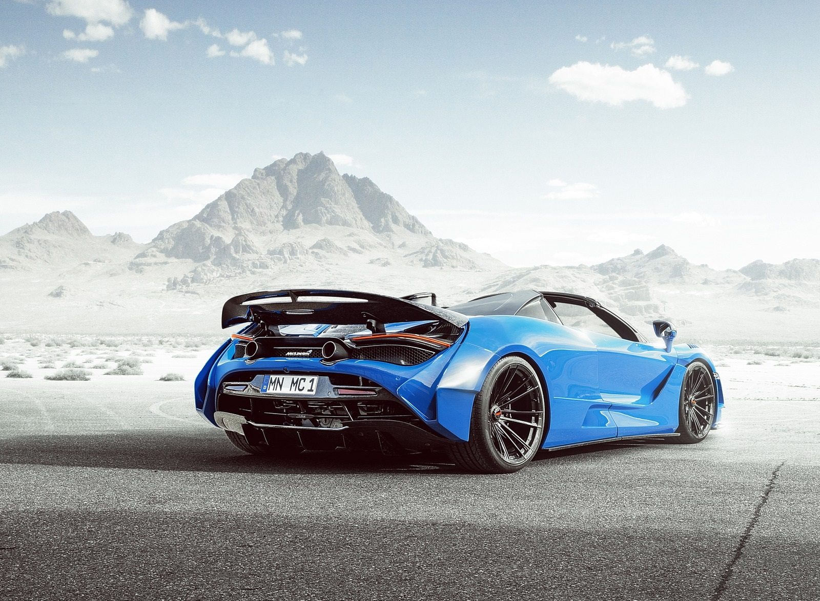 2020 NOVITEC N-LARGO based on McLaren 720S Spider Rear Three-Quarter Wallpapers (2)