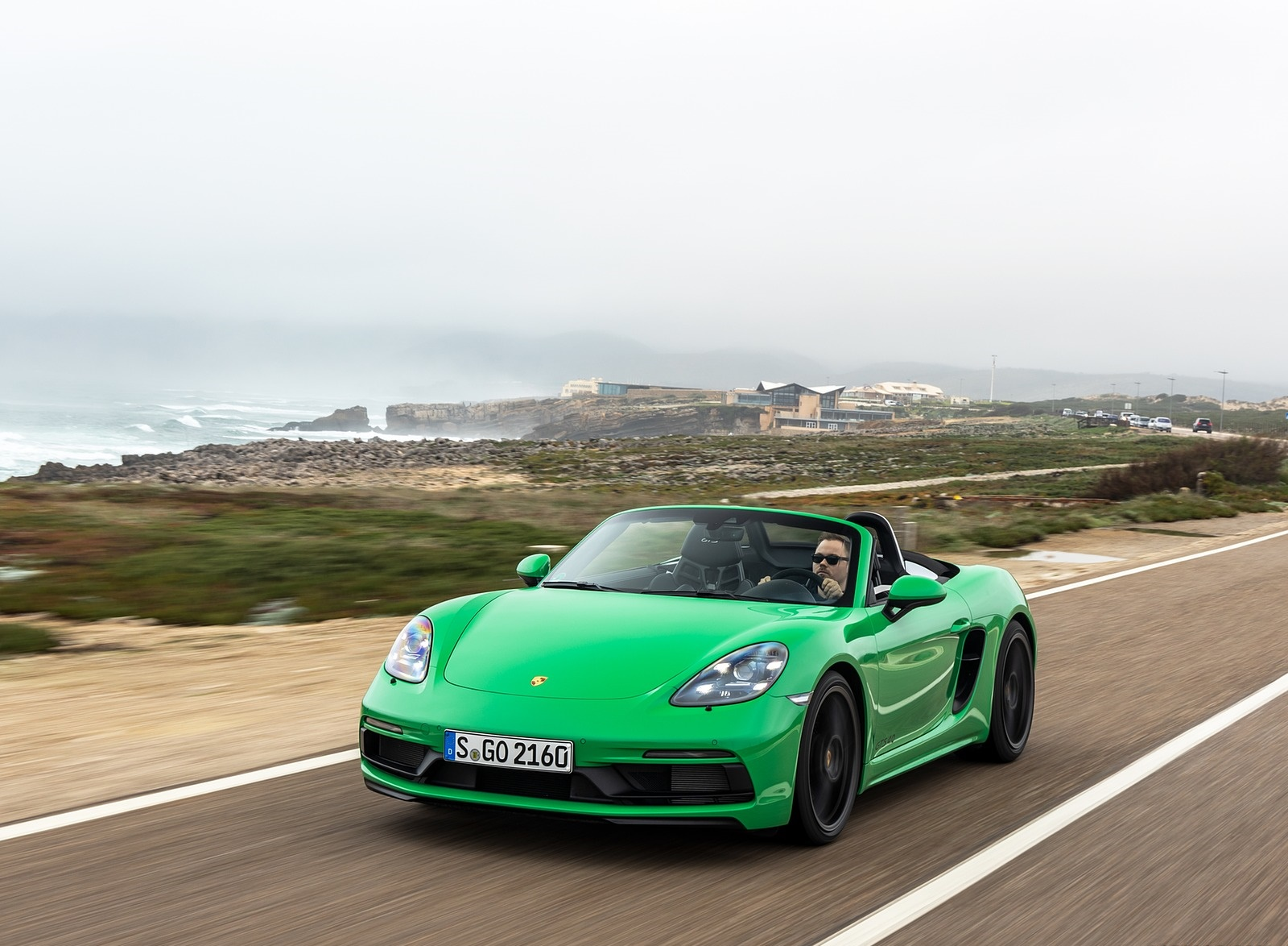 2020 Porsche 718 Boxster GTS 4.0 (Color: Phyton Green) Front Three-Quarter Wallpapers (1)