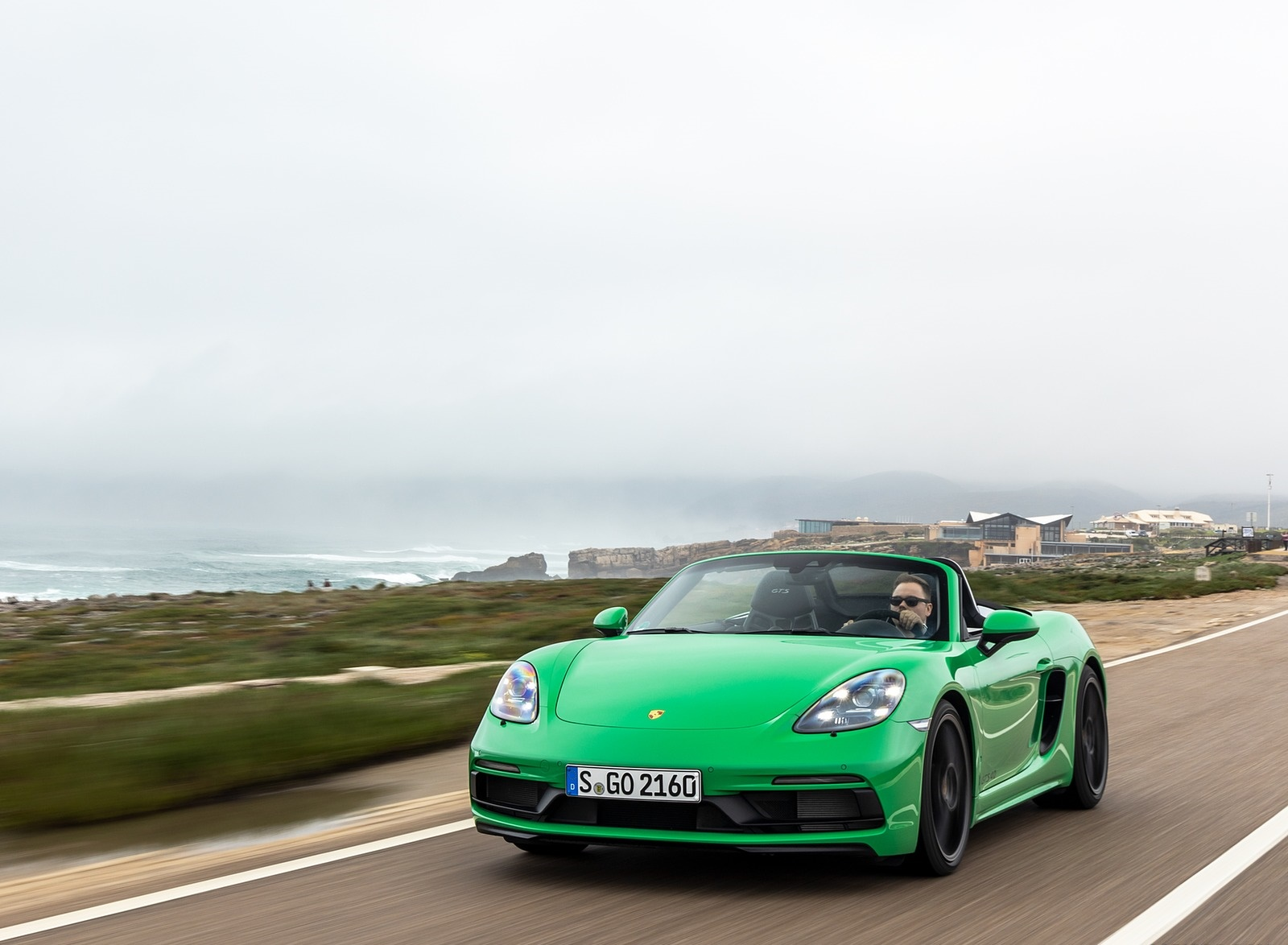 2020 Porsche 718 Boxster GTS 4.0 (Color: Phyton Green) Front Wallpapers (8)
