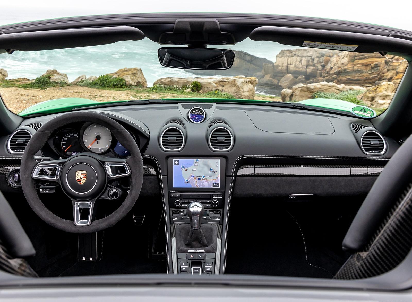 2020 Porsche 718 Boxster Gts 4 0 Color Phyton Green Interior Cockpit Wallpapers 54 Newcarcars