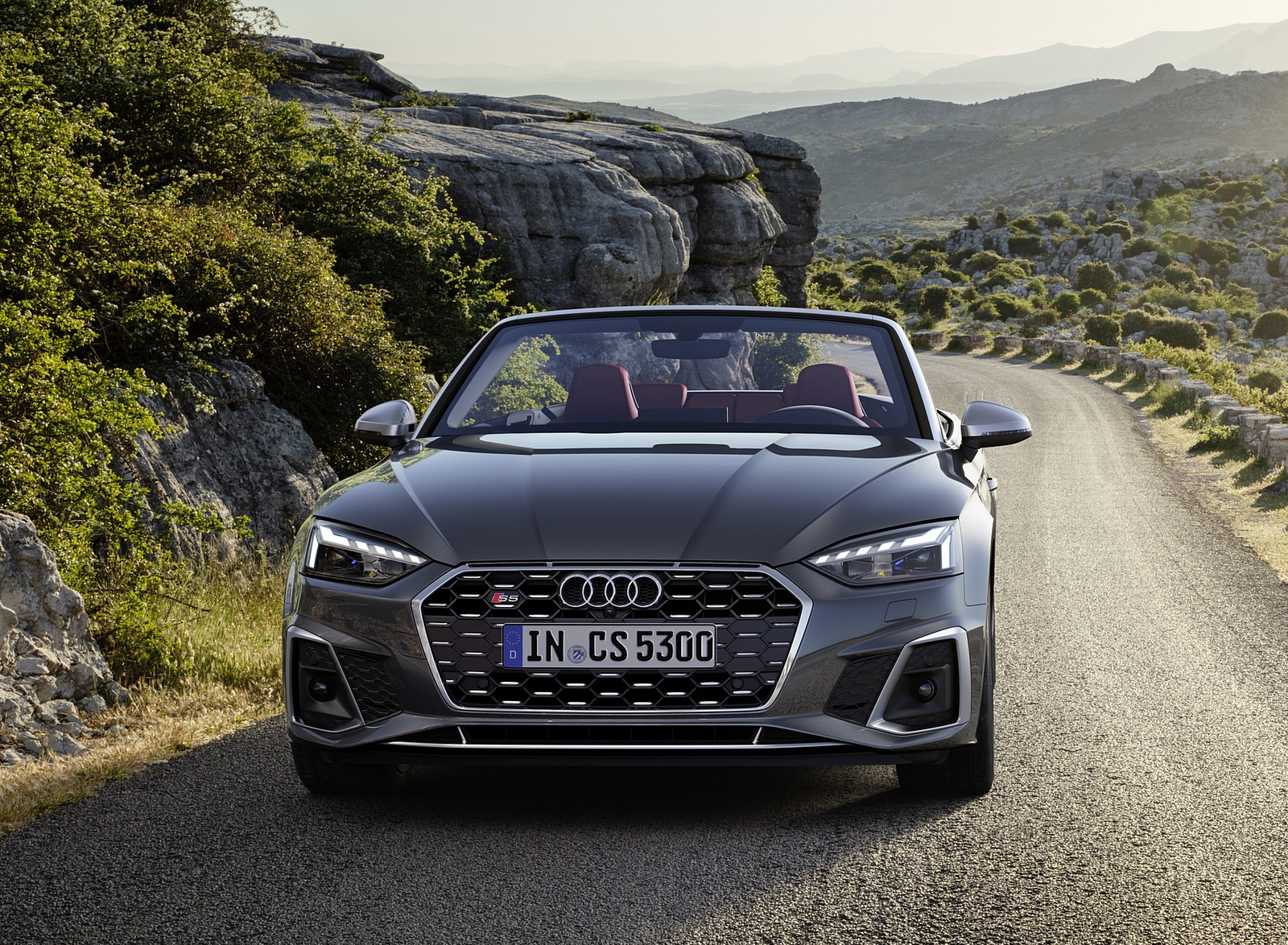 2021 Audi S5 Cabriolet (Color: Daytona Gray) Front Wallpapers (2)