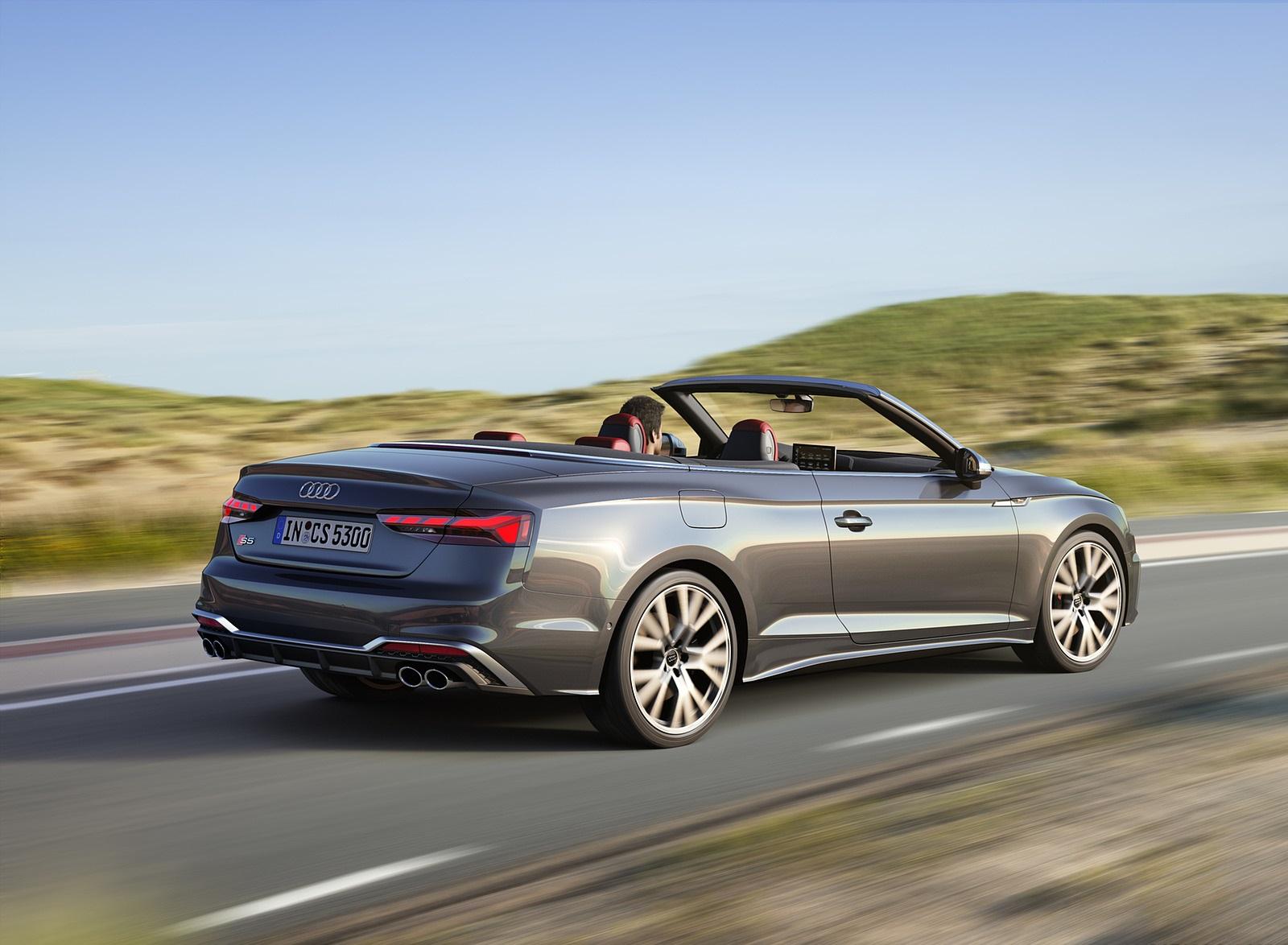 2021 Audi S5 Cabriolet (Color: Daytona Gray) Rear Three-Quarter Wallpapers (3)