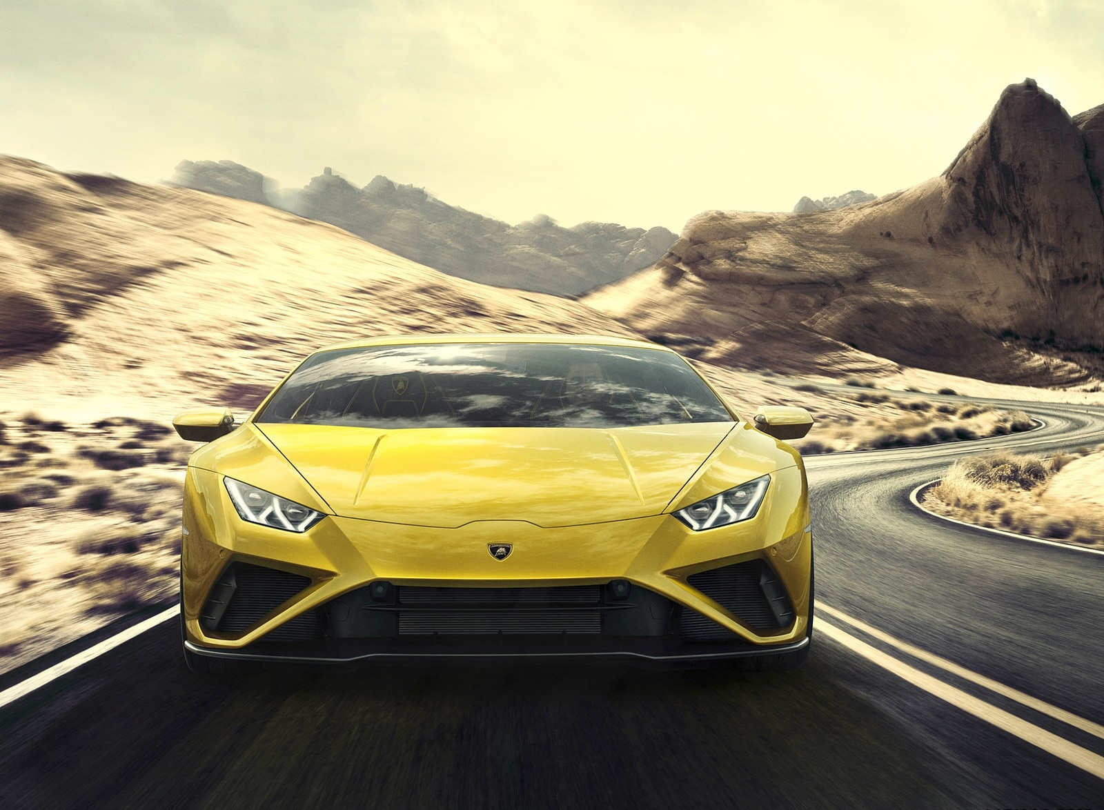 2021 Lamborghini Huracán EVO RWD Front Wallpapers (2)