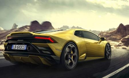 2021 Lamborghini Huracán EVO RWD Rear Three-Quarter Wallpapers 450x275 (6)