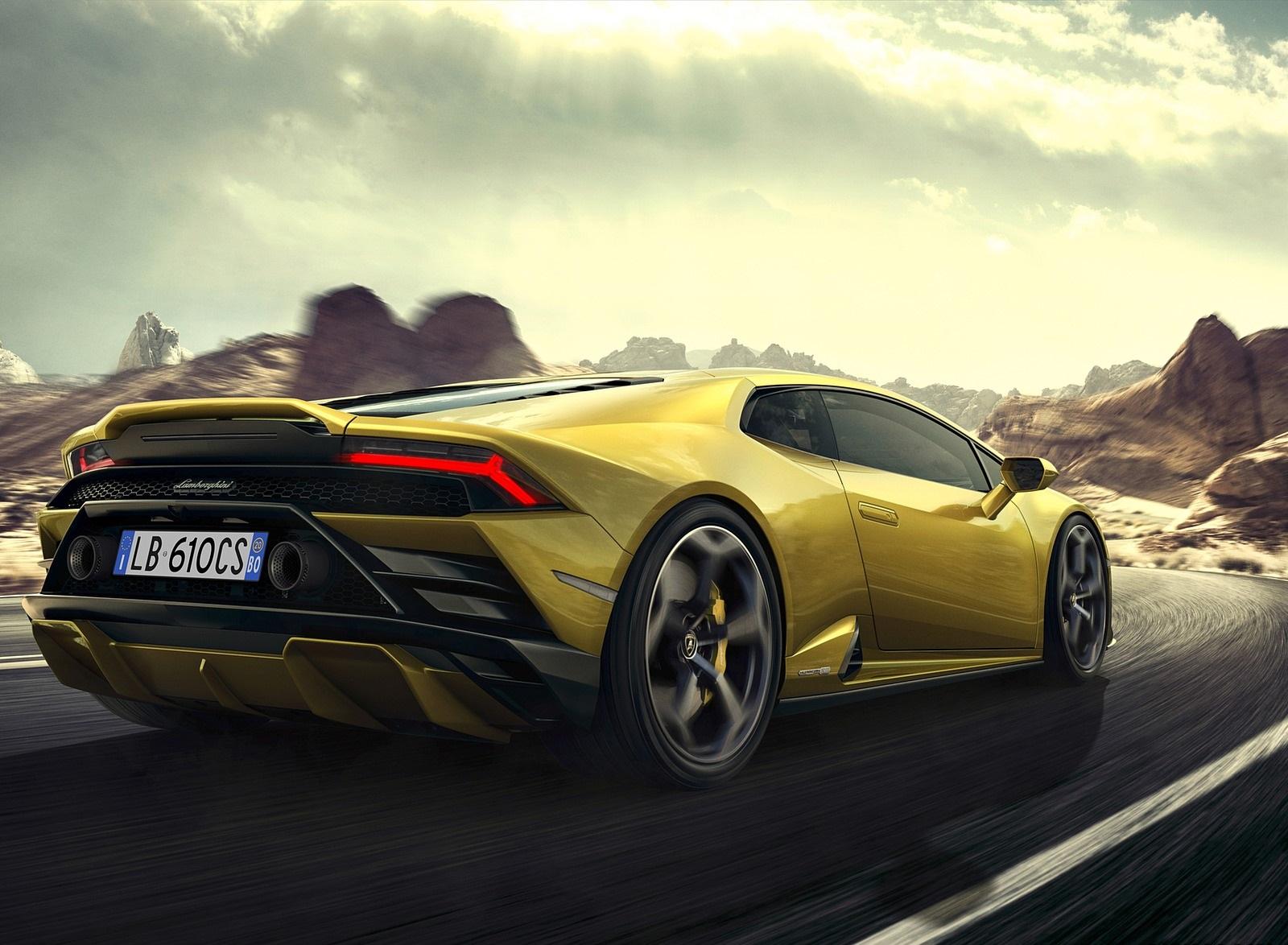 2021 Lamborghini Huracán EVO RWD Rear Three-Quarter Wallpapers (6)