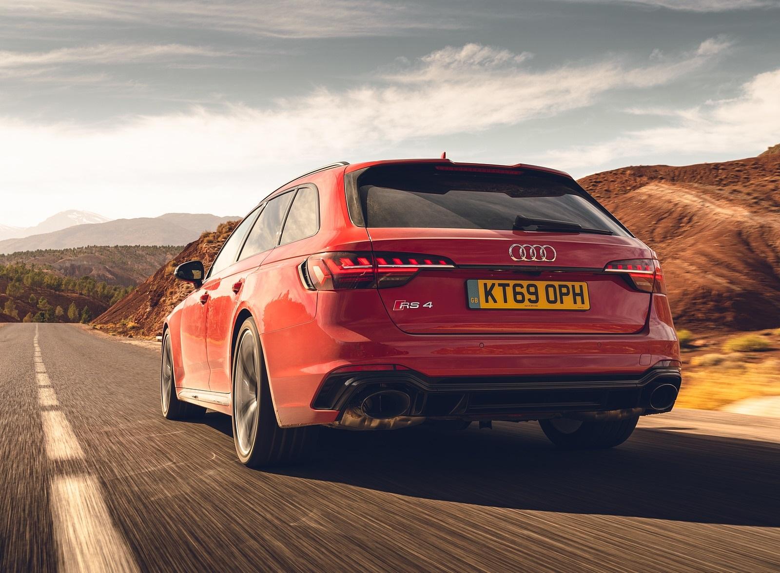 2020 Audi RS 4 Avant (UK-Spec) Rear Three-Quarter Wallpapers (8)