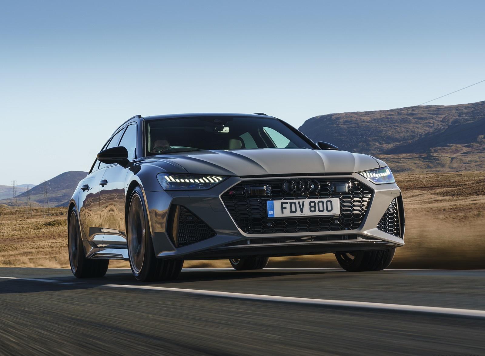 2020 Audi RS 6 Avant (UK-Spec) Front Three-Quarter Wallpapers (1)