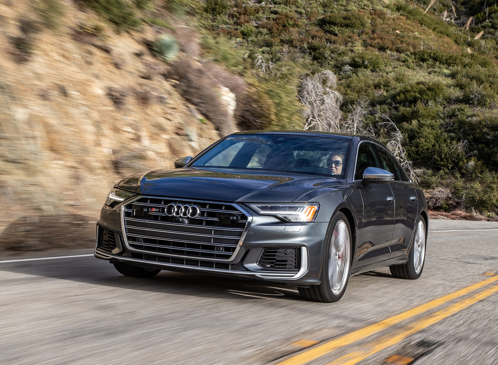 2020 Audi S6 (US-Spec) Front Wallpapers (1)