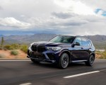 2020 BMW X5 M Competition (Color: Tanzanit Blue Metallic US-Spec) Front Three-Quarter Wallpapers 150x120 (15)