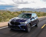 2020 BMW X5 M Competition (Color: Tanzanit Blue Metallic US-Spec) Front Three-Quarter Wallpapers 150x120 (17)