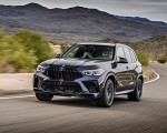 2020 BMW X5 M Competition (Color: Tanzanit Blue Metallic US-Spec) Front Wallpapers 150x120 (1)
