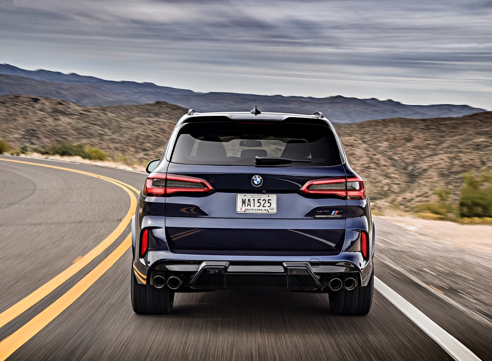 2020 BMW X5 M Competition (Color: Tanzanit Blue Metallic US-Spec) Rear Wallpapers (7)