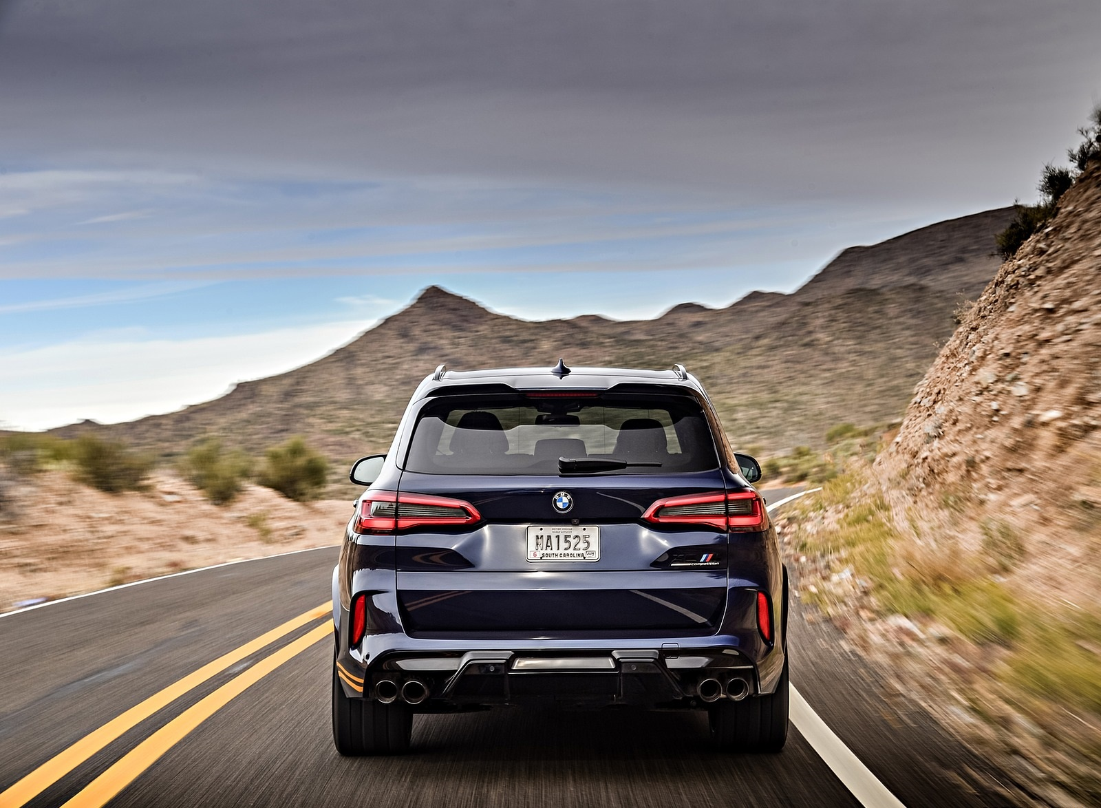 2020 BMW X5 M Competition (Color: Tanzanit Blue Metallic; US-Spec) Rear Wallpapers (8)