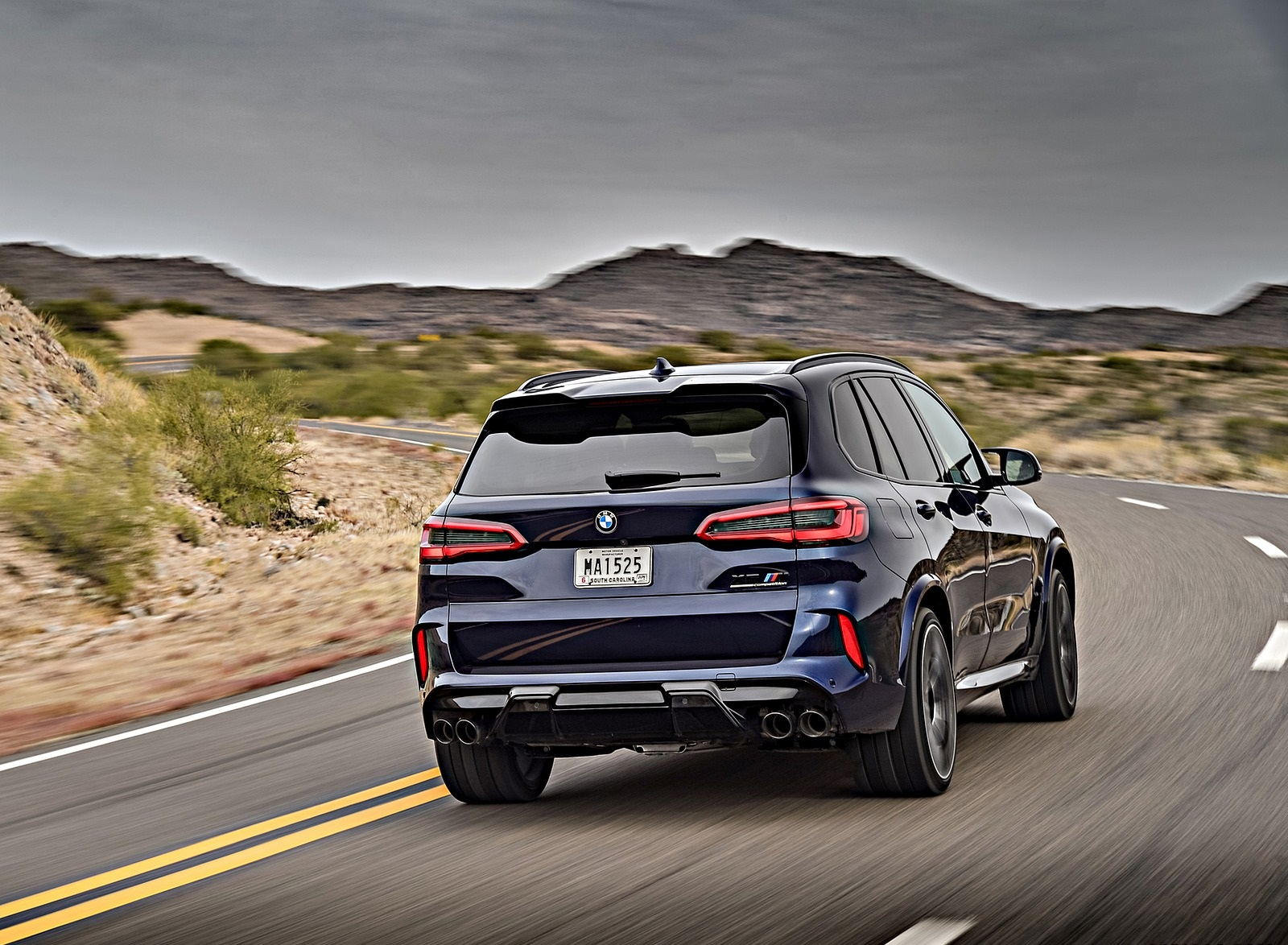 2020 BMW X5 M Competition (Color: Tanzanit Blue Metallic; US-Spec) Rear Wallpapers (9)