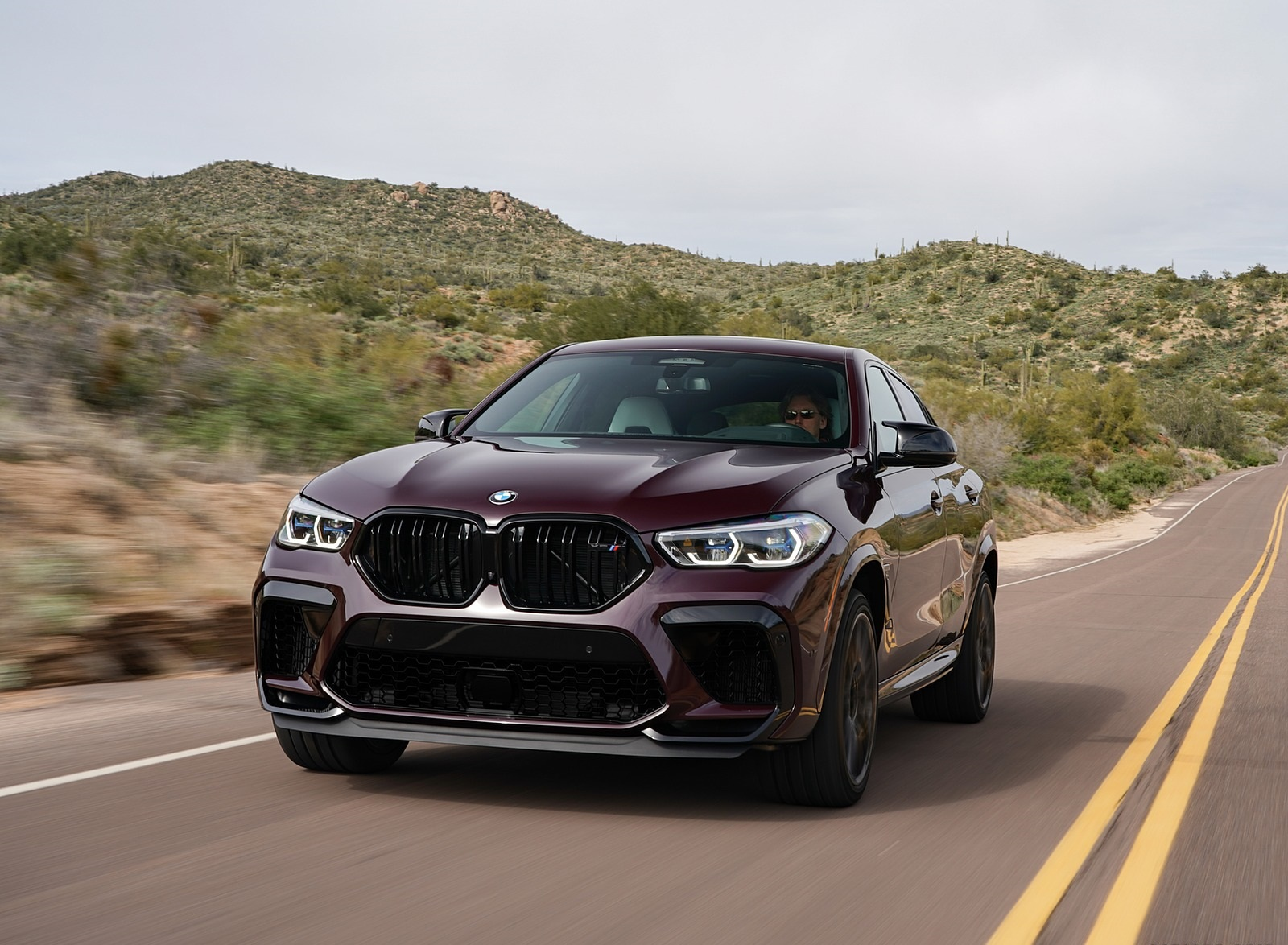 2020 BMW X6 M Competition (Color: Ametrine Metallic; US-Spec) Front Wallpapers (2)