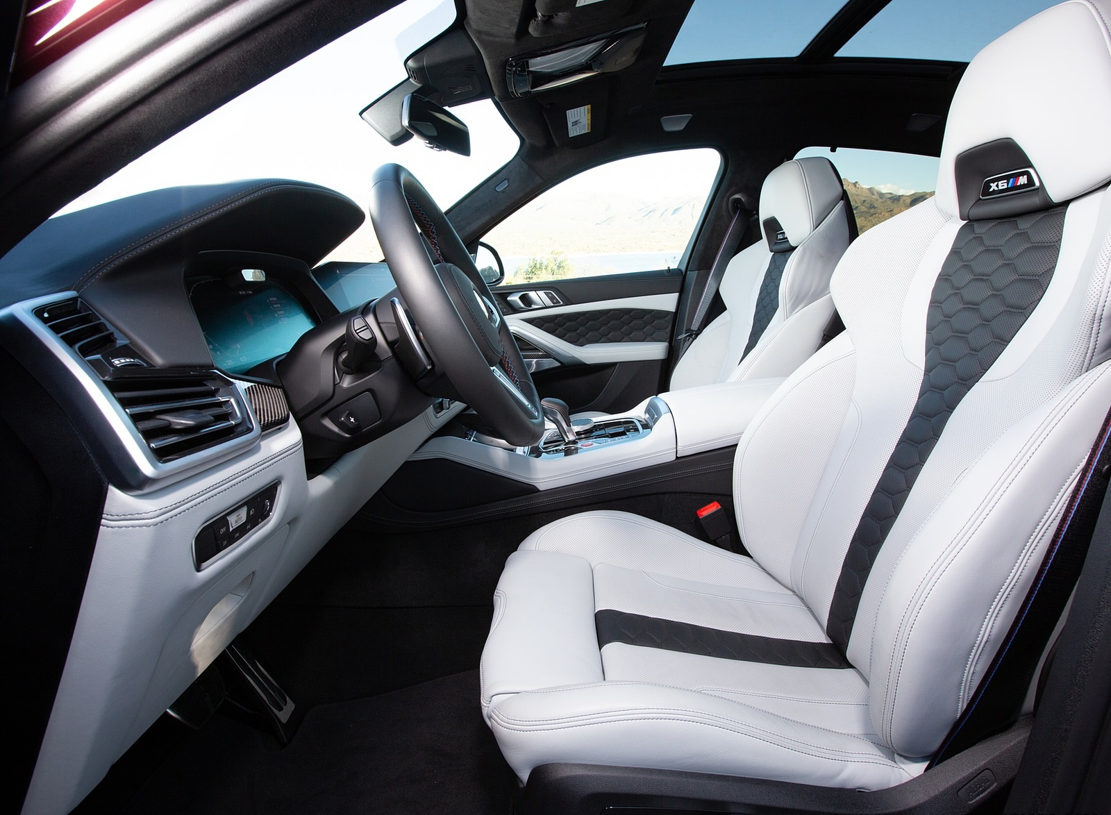 2020 Bmw X6 M Competition Color Ametrine Metallic Us Spec Interior Front Seats Wallpapers 110 Newcarcars