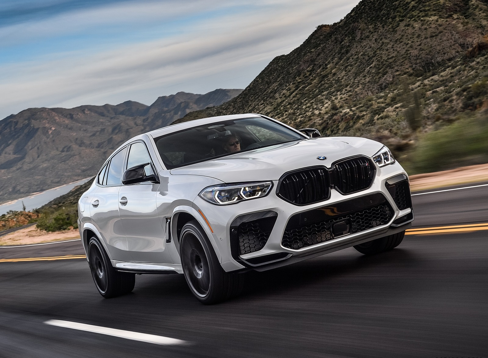 2020 Bmw X6 M Competition Color Mineral White Metallic Us Spec Front Three Quarter Wallpapers 151 Newcarcars