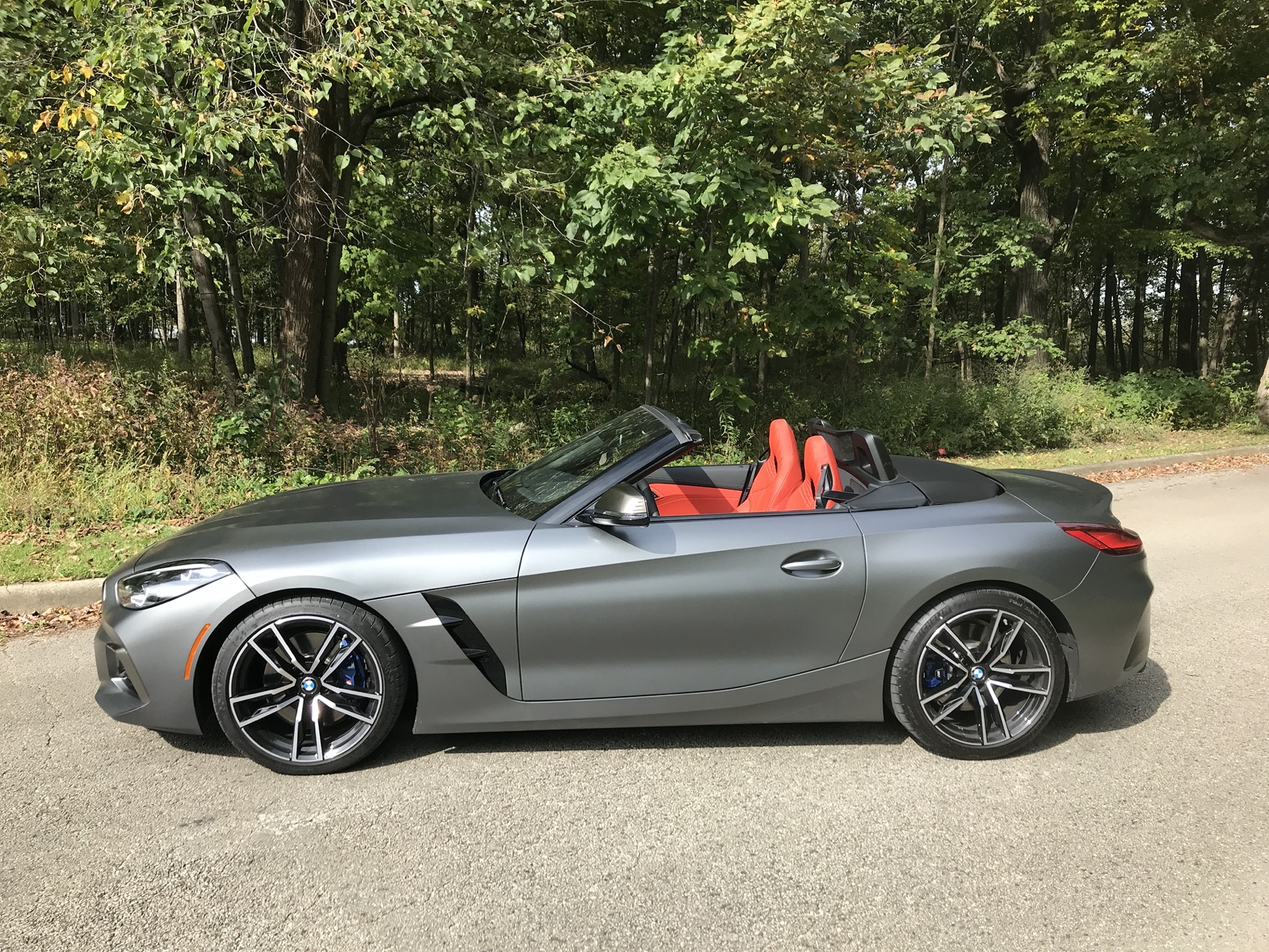 2020 Bmw Z4 M40i Roadster Color Frozen Grey Metallic Side Wallpapers 40 Newcarcars