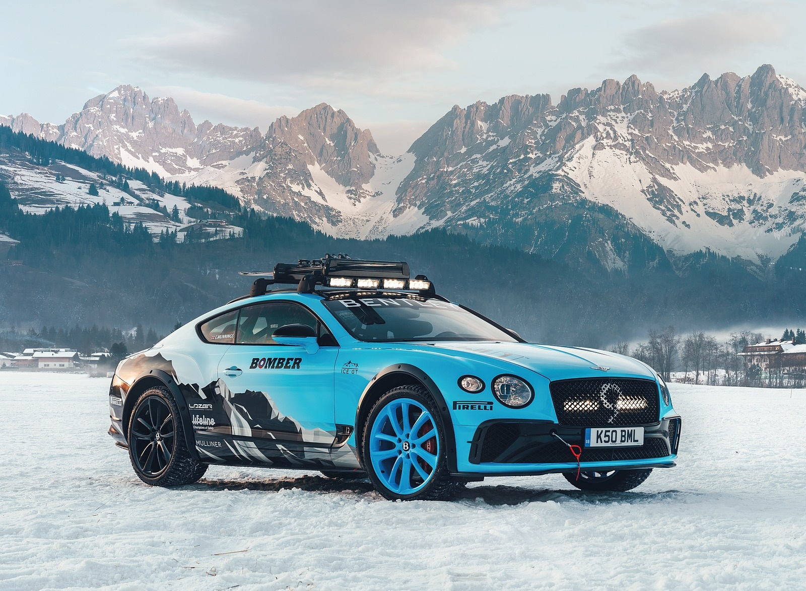 2020 Bentley Continental GT GP Ice Race Front Three-Quarter Wallpapers (1)