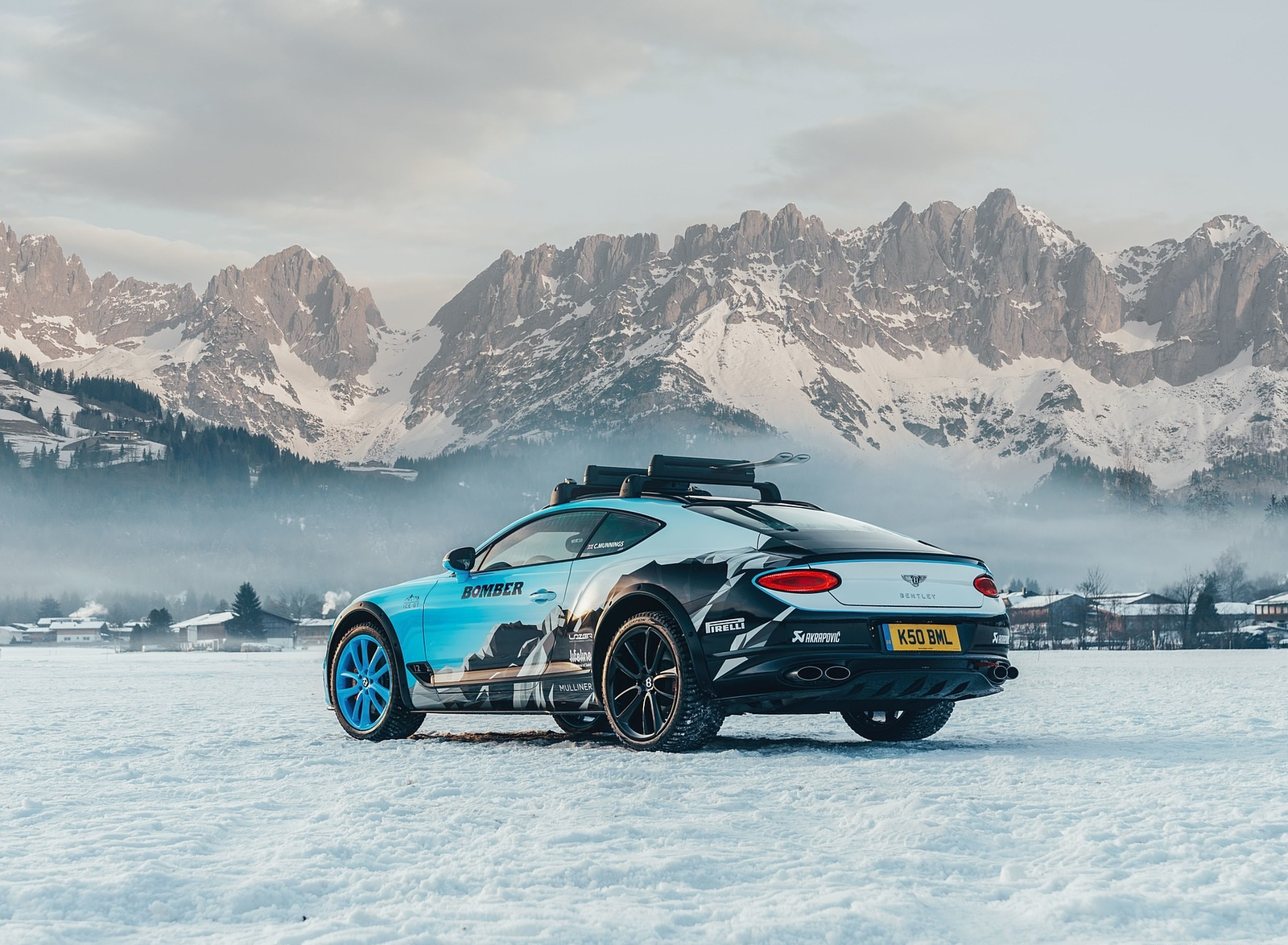 2020 Bentley Continental GT GP Ice Race Rear Three-Quarter Wallpapers (4)