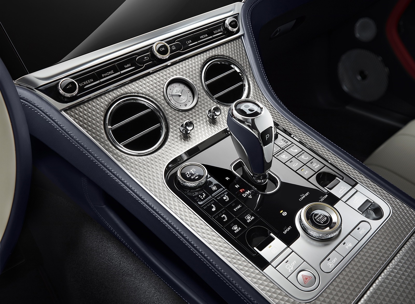 2020 Bentley Continental GT Mulliner Convertible Central Console Wallpapers (9)