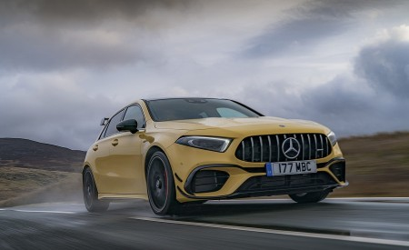 2020 Mercedes-AMG A 45 S (UK-Spec) Front Three-Quarter Wallpapers 450x275 (7)