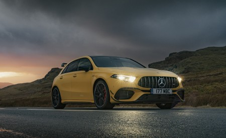 2020 Mercedes-AMG A 45 S (UK-Spec) Front Three-Quarter Wallpapers 450x275 (42)