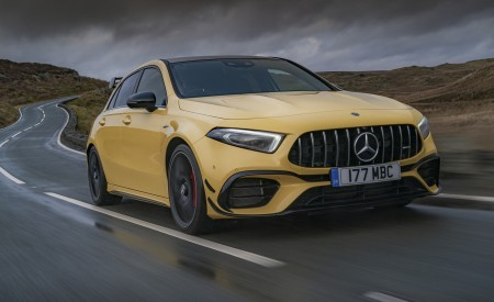 2020 Mercedes-AMG A 45 S (UK-Spec) Front Three-Quarter Wallpapers 450x275 (21)