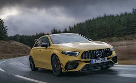 2020 Mercedes-AMG A 45 S (UK-Spec) Front Three-Quarter Wallpapers 450x275 (8)