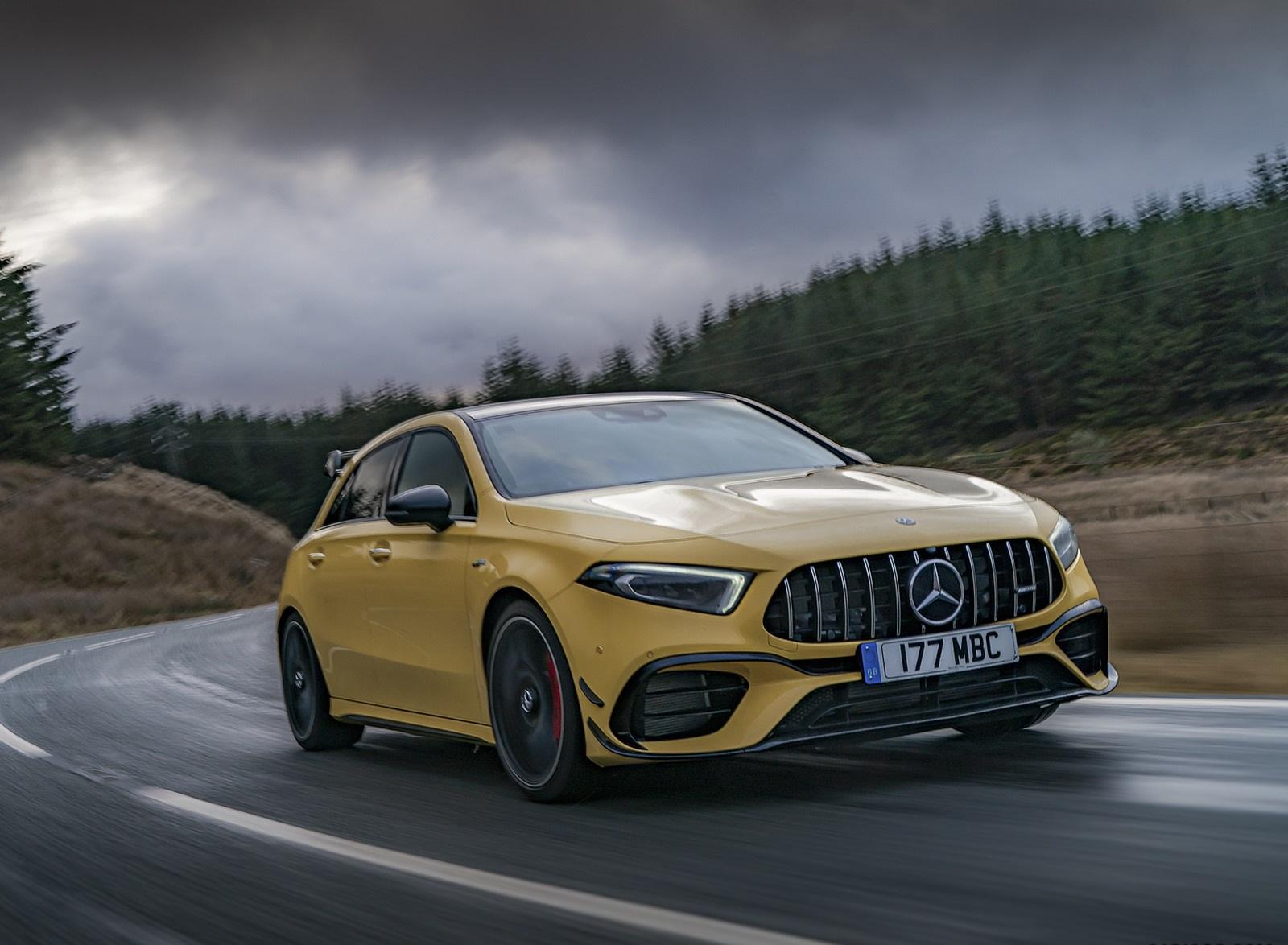 2020 Mercedes-AMG A 45 S (UK-Spec) Front Three-Quarter Wallpapers (8)