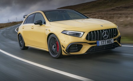 2020 Mercedes-AMG A 45 S (UK-Spec) Front Three-Quarter Wallpapers 450x275 (3)